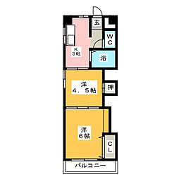 ハイツ小林[2階]の間取り
