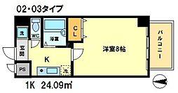 シエークル21[5階]の間取り
