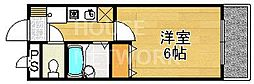 京都府京都市西京区桂艮町の賃貸マンションの間取り