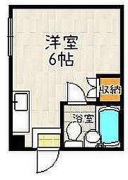 京都府京都市伏見区風呂屋町の賃貸マンションの間取り