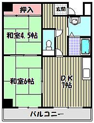 パラッツオ安藤[1階]の間取り