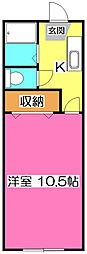 鶺鴒荘(セキレイソウ)[2階]の間取り