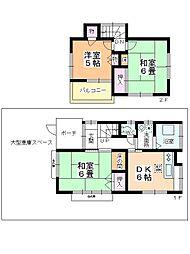 [一戸建] 埼玉県鶴ヶ島市松ヶ丘1丁目 の賃貸【/】の間取り