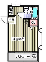 ローズアパートQ37[2階]の間取り