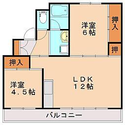 ビレッジハウス庄内2号棟[3階]の間取り