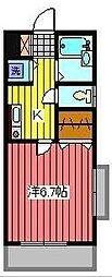 パルミエセコンド[2階]の間取り