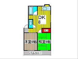スターハイム[2階]の間取り