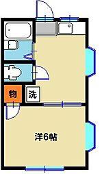 栃木県宇都宮市江曽島4丁目の賃貸アパートの間取り