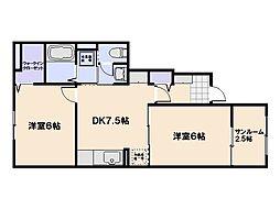 コンフォートハウスさくら[1階]の間取り