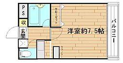 大阪府寝屋川市八坂町の賃貸マンションの間取り