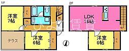 [一戸建] 愛知県名古屋市守山区今尻町 の賃貸【/】の間取り