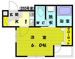 コーポMR[2階]の間取り