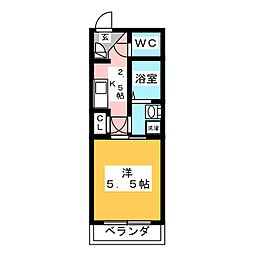 ハイツヤマト[3階]の間取り