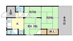 さつき荘[2-4号室]の間取り