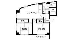 REVE甲東園I・II[2-201号室]の間取り