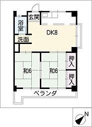 ハイツ新清洲[3階]の間取り