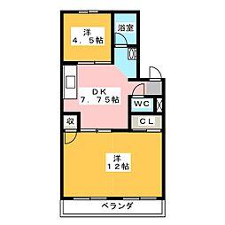 マンション東山[1階]の間取り