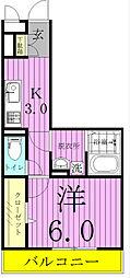 オッツ新鎌ヶ谷[2階]の間取り
