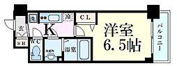 プレサンス新大阪イオリア 3階1Kの間取り