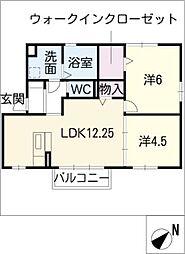 ソーニョ豊[1階]の間取り