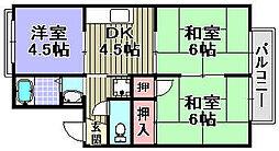 ヴェルデ阪南[205号室]の間取り