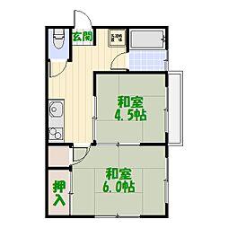 内田マンション[302号室]の間取り