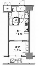 スプランディッド新大阪キャトル[3階]の間取り