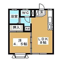 苦竹コーポワタナベ[2階]の間取り
