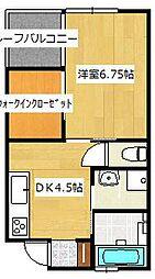 NOAH 2階1DKの間取り