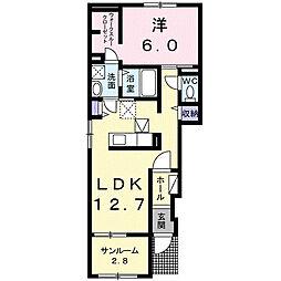 メゾン ドゥ シュシュA[1階]の間取り