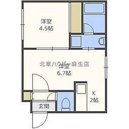 ブランノワールN38[2階]の間取り