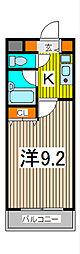 シャンフレア北浦和[5階]の間取り