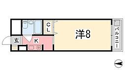 ロッキーコート太子[203号室]の間取り