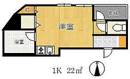 エルパラッツォ塚本[5階]の間取り