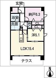 仮)武豊町下門マンション[1階]の間取り