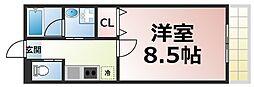 近鉄大阪線 布施駅 徒歩8分の賃貸マンション 7階1Kの間取り