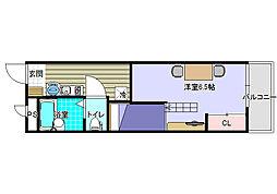 大阪府八尾市相生町2丁目の賃貸アパートの間取り