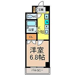 メゾンキムラ2[4階]の間取り