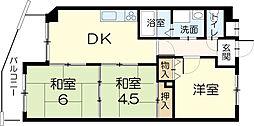 ロイヤルコーポ宝殿[3階]の間取り