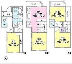 [一戸建] 東京都大田区山王2丁目 の賃貸【/】の間取り