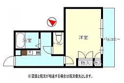 モトヤシキ西[2階]の間取り