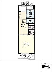 ラフォーレ富士[3階]の間取り