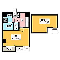 イル・ヴァローレ薬院1[2階]の間取り