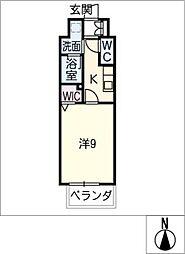 仮)千種区東山通一丁目プロジェクト 4階1SKの間取り