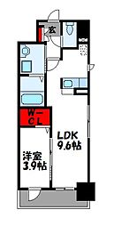 JR篠栗線 柚須駅 徒歩21分の賃貸マンション 7階1LDKの間取り