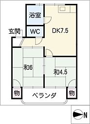 サクセス栄和[3階]の間取り