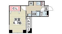 ウィンテージ神戸元町[204号室]の間取り