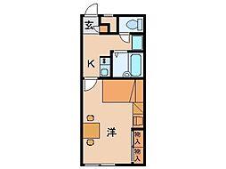レオパレスNATAKA[1階]の間取り