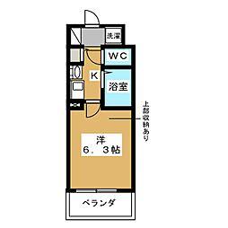 エステムコート御所南II[5階]の間取り