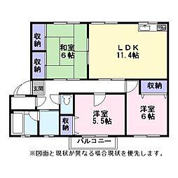 Nasu34[201号室]の間取り